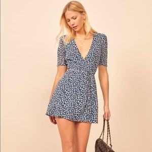 NEW Reformation Lucky Dress, Elyse Print. Large